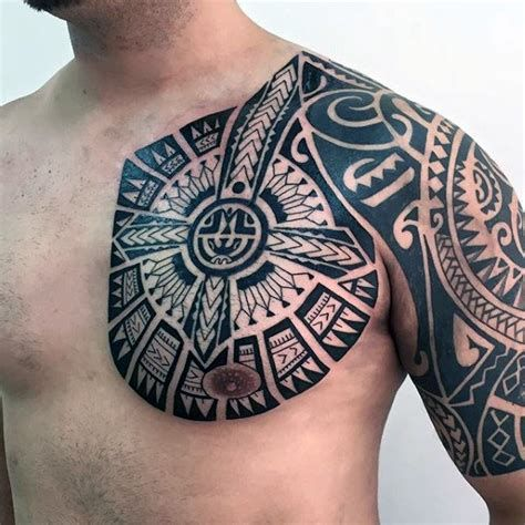 Shoulder Back Tribal Tattoos In 2020 Chest Tattoo Men Mens Shoulder Tattoo Tribal Tattoos For Men