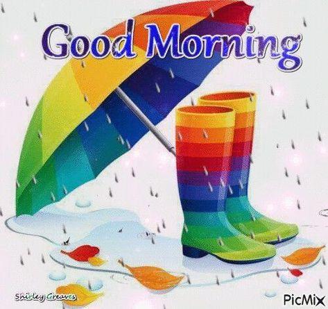 Rainbow Good Morning Boots
