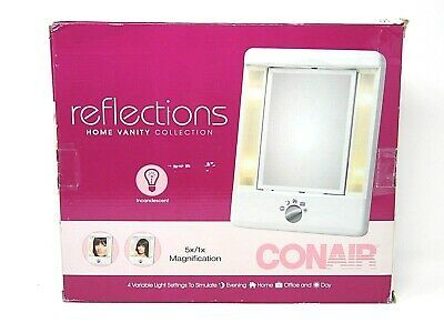 Advertisement Conair Two Sided Lighted Makeup Mirror 4 Light