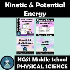Boom Cards Kinetic And Potential Energy Bundle In 2020 Kinetic And Potential Energy Potential Energy Math Word Problems