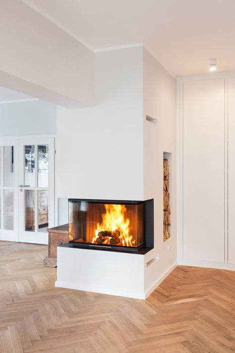 Boden fugenlos Floors Pinterest Fireplace tv wall, Stove and