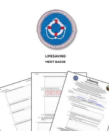 Lifesaving Merit Badge Worksheet Requirements Merit Badge Badge Merit