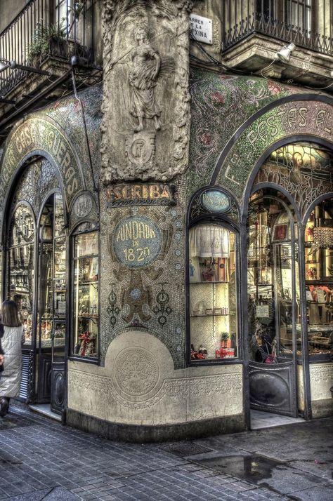Ramblas, Barcelona. Cute coffee/pastry shop.