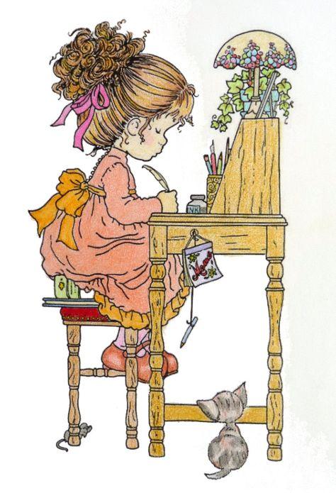 Sarah Kay Gekleurd Door Adri Colored By Adri Desenhos