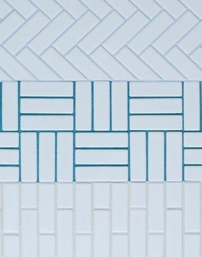White Tile Blue Grout Tiles Bath Design Grout Color