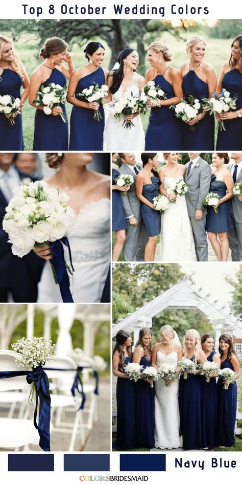 Top 8 October to steal wedding colors Top 8 October Wedding Colors to Steal Top 8 October Wedding Colors - Navy Wedding ColorsBridesmaid - Wedding Colors