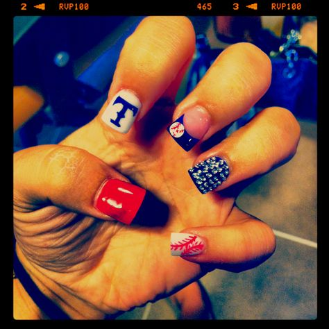 Texas rangers nails.... AAAAHHH!
