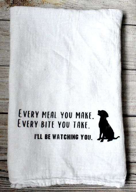 Every Meal You Make Flour Sack Tea Towel/The Police/The Police Lyrics/Music Lyrics Kitchen Towel/Dog Kitchen Accessories