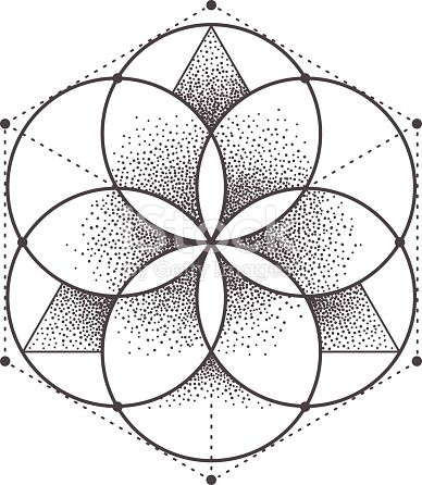 Abstract Sacred Geometry Geometric Symmetric Pattern Isolated On Sacred Geometry Patterns Sacred Geometry Art Geometry Art