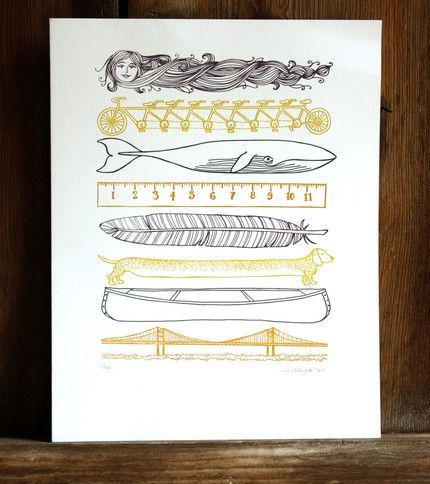 """A spectacular etsy print appropriately named """"Things that are Long"""" $41"""