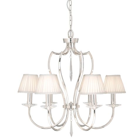 Linear Chandelier Thin 1445mm Polished Nickel By Tom Kirk For Tom