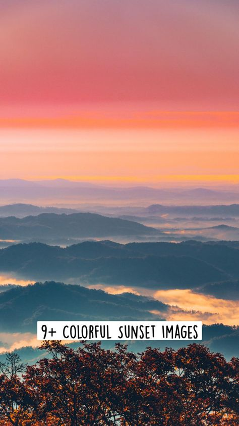 9+ Colorful Sunset Images🌈😍❤