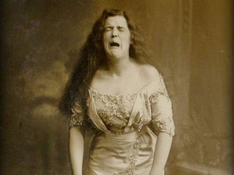 This picture, identified as a woman sneezing and taken in 1900, is often called the original perfectly timed photo. It's more likely that the picture is staged, however, and the woman is an actress advertising her skills. Film exposures were too long to catch something as fleeting as a sneeze—especially with no blurring.