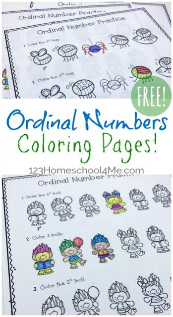 Free Ordinal Numbers Coloring Pages Ordinal Numbers Kindergarten Numbers Kindergarten Ordinal Numbers