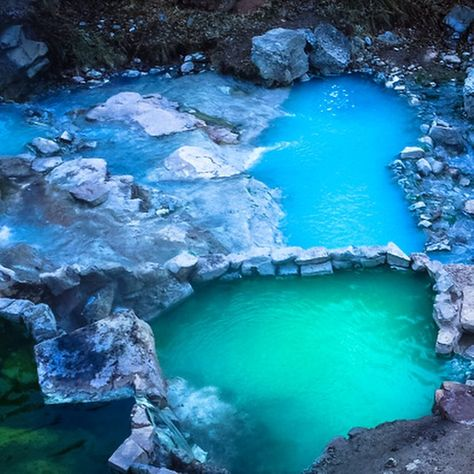 Utah's Diamond Fork Hot Springs. You have a 2 1/2 mile hike to get there, but the hike is said to be beautiful!