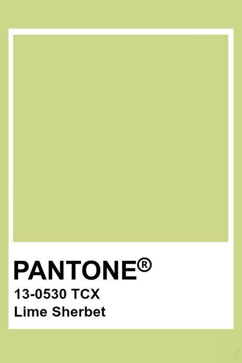 Pantone Lime Sherbet