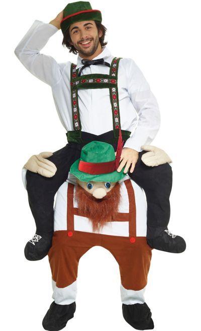 Adult Step In Ride On Oktoberfest Bavarian Fancy Dress Carry Back Costume