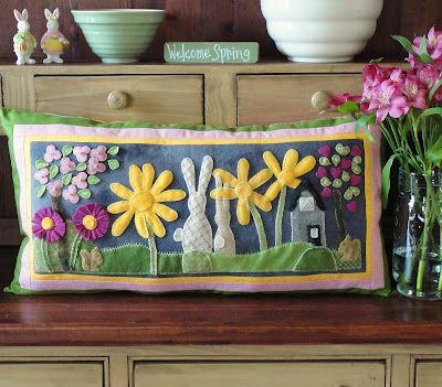 Spring pillow-Sunflower Fields Pattern Company