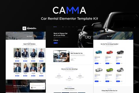 Camma — Car Rental Elementor Template Kit   Stylelib