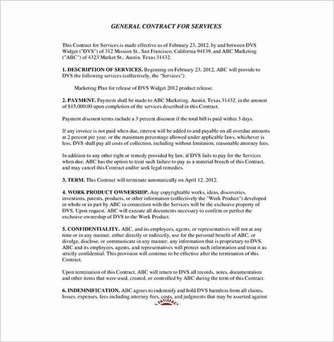 Service Contract Template Pdf Best Of Service Contract Templates