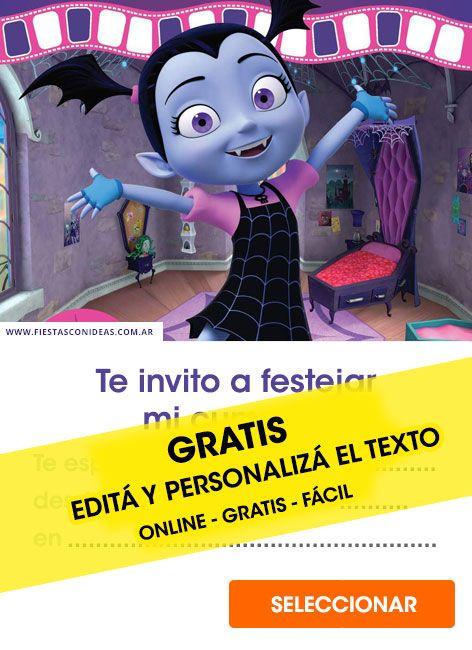 Tarjeta De Cumpleaños De Vampirina Tarjetas De Cumpleaños