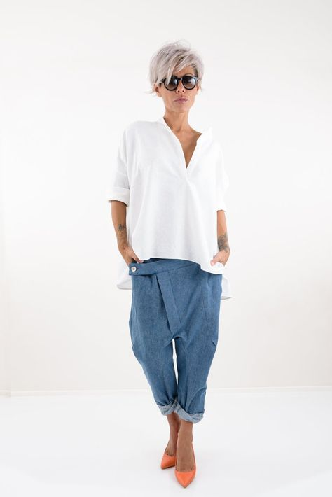 Linen Tunic Linen Top Linen Shirt Linen Clothing Linen | Etsy