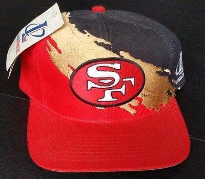 b549af6e San Francisco 49ers Vintage Snapback Logo Athletic Splash Hat NFL ...