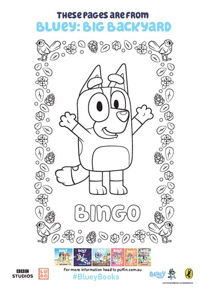 Bluey Colouring In Activities For The Whole Family Penguin Books Australia Kids Craft Box Disney Coloring Pages Happy Birthday To You