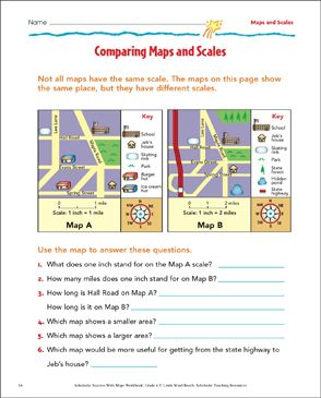 Map Scale Worksheets Activities Printable Lesson Plans For Kids