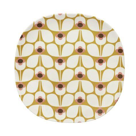 Melamine Plate Wallflower Large