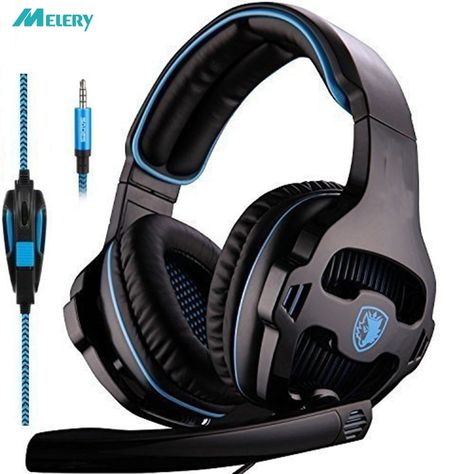 Gaming Headset Single 3.5mm Jack Over Ear Gaming Headphones