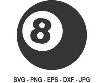 Fireball Svg8 Ball Svgpool Billiards Svgball Svginstant Etsy Printing Software Ball Cricut Vinyl