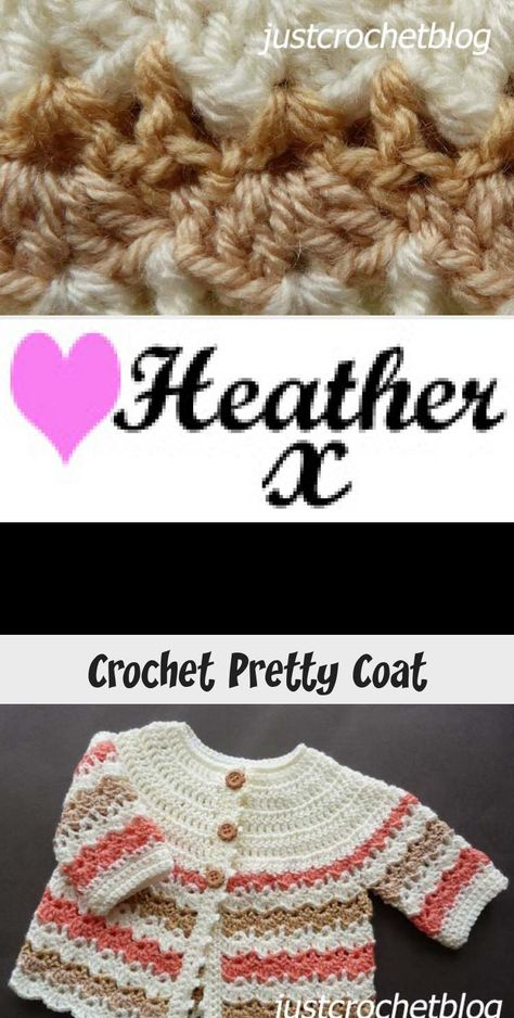 Free baby crochet pattern for a pretty coat, made in one piece from the yoke down in an easy shell and v.stitch. CLICK and scroll down the page for the pattern. | #crochetbaby #crochetbabycoat #crochetbabysweater #justcrochetblog #crochet #howto #crochetpattern #freecrochetpattern #easypattern #freepattern #forbeginners #diy #crafts #crochetaddict #