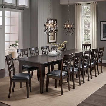 Alec 13 Piece Dining Set Dining Room Sets Dining Room Design Dining Table Dimensions