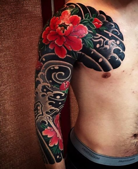 eafa0a68eeed3 Japanese Peony Half Sleeve done by Lucas Franco Sugiyama at Santuário Art  Parlour in Mie, Japan | tattoo. want | Japanese flower tattoo, Tattoos, ...