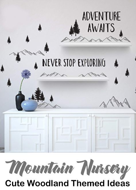 Mountain Nursery Ideas For The Perfect Baby Room A More Crafty Life Baby Room Wall Kids Room Wall Decor Kid Room Decor