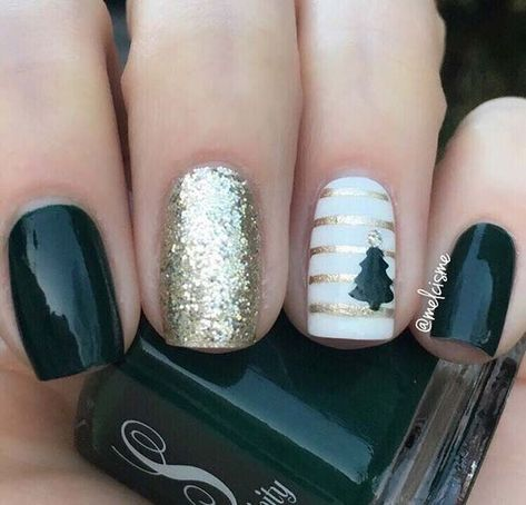 Newest Christmas Nail Art Ideas For 2019 - Vida Joven