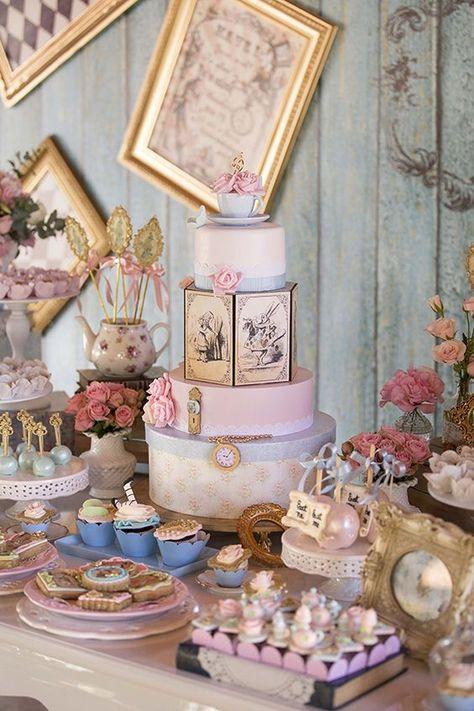 Aniversario Com Tema Alice No Pais Das Maravilhas Alice No