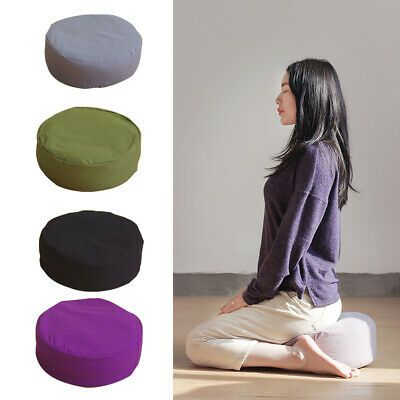 Meditation Cushion Round Yoga Pillow Organic Buckwheat Filled Home Decor Fashion Home Garden Homedcor Pillow In 2020 Meditation Cushion Yoga Pillows Yoga Cushions