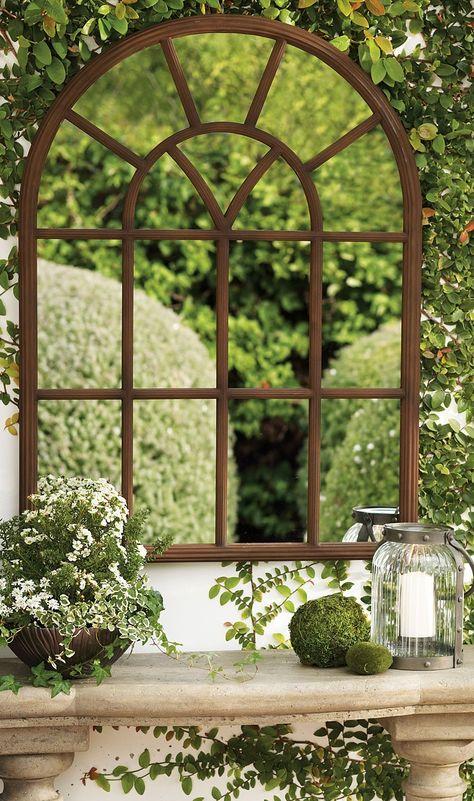 Window Garden Mirror Grandin Road In 2020 Garden Mirrors Vintage Garden Decor Outdoor Mirror