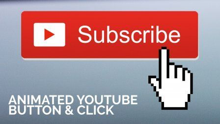 Animated Youtube Subscribe Button With Click In After Effects Sponsored Tombol Animasi Gambar