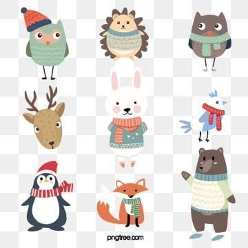 Winter Png Images Vector And Psd Files Free Download On Pngtree Animal Clipart Cartoon Animals Cute Cartoon Animals