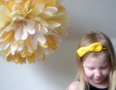 Dulce de Leche... 1 tissue paper pom // wedding reception // birthday party // baby shower // party decorations.