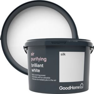 Goodhome Air Purifying Brilliant White Silk Emulsion Paint 2 5l Soft Sheen Mold In Bathroom Bathroom Mold Remover