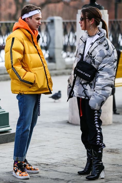 Street style at Russia Fashion Week