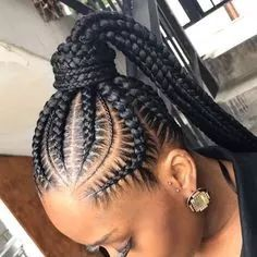 50+ Jolie coiffure natte africaine inspiration