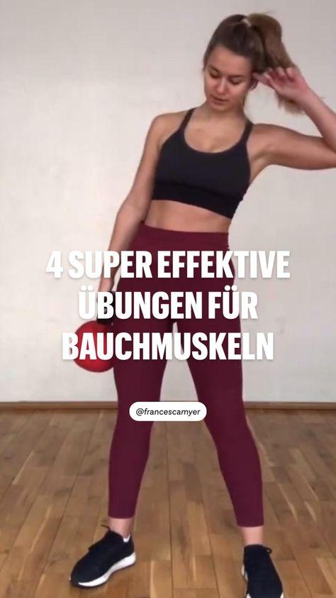 4 super effektive  übungen für  Bauchmuskeln