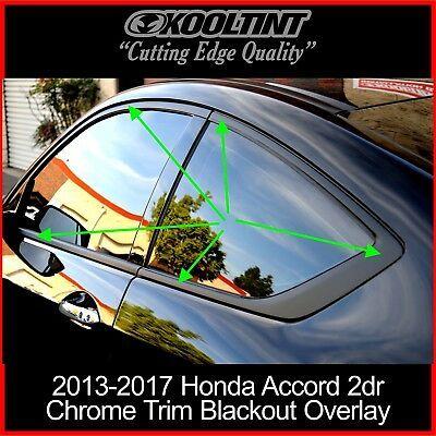 Chrome Delete Kit fitting the 2013-2017 Honda Accord Coupe Chrome Trim