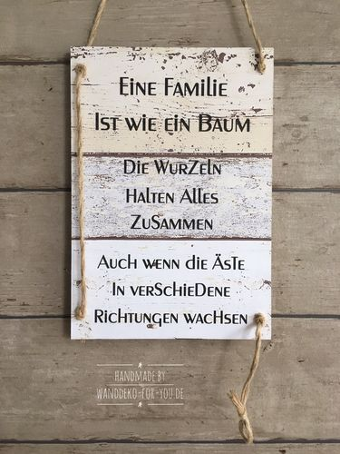 A family is like a tree ... vintage, banner label, sayings, wooden sign ... #Banner #family #label #Sayings #vintage #Wooden