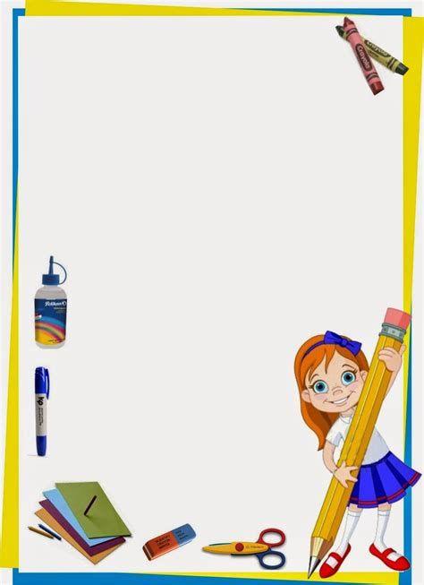 Maestra De Primaria Marcos Infantiles Para Fotos Y Marcos Poster Print School Frame School Border Page Borders Design